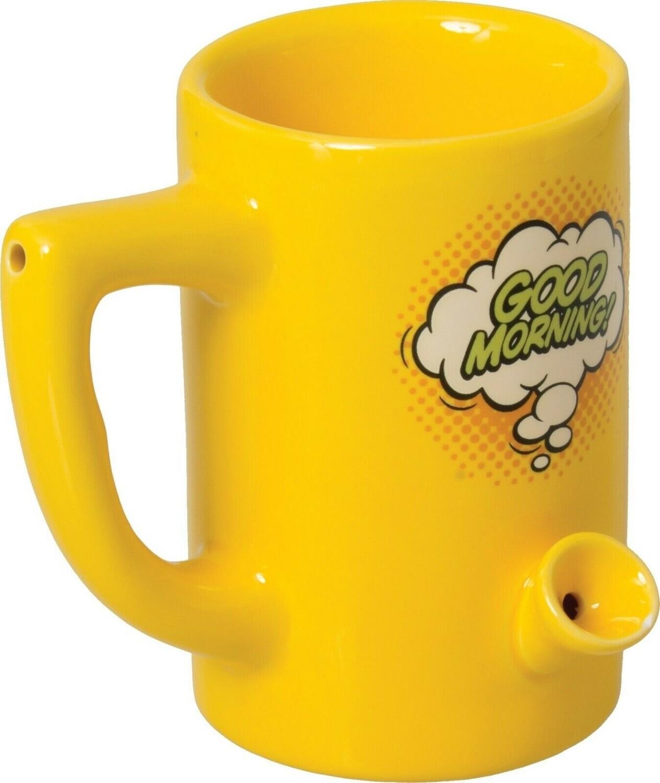 Ceramic Water Pipe Mug 8oz/ Good Morning