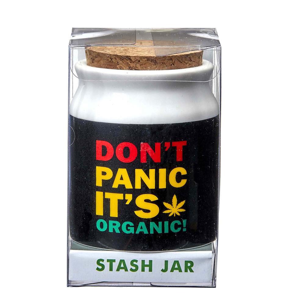 """Don't Panic It's Organic Stash Jar 3"""""""