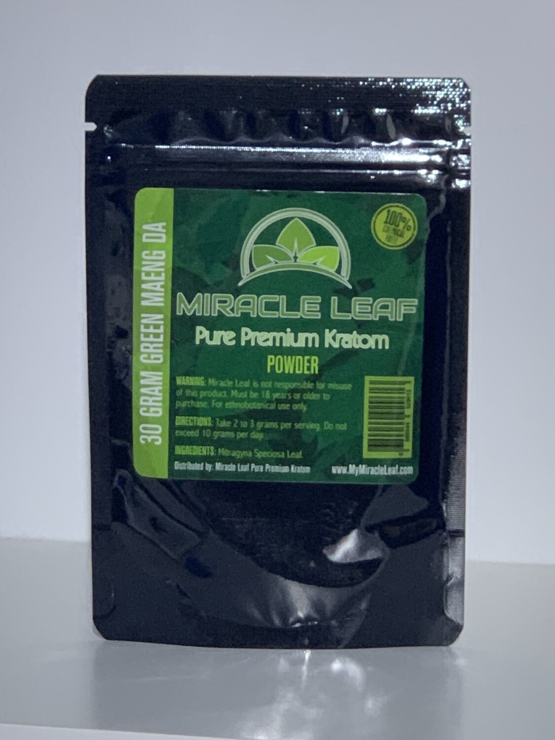 Miracle Leaf Kratom 30g Powder