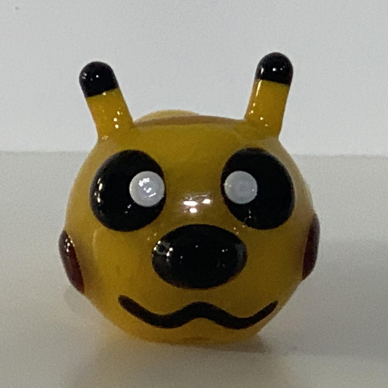 "4"" Pokey Chu Yellow Spoon Pipe AF"