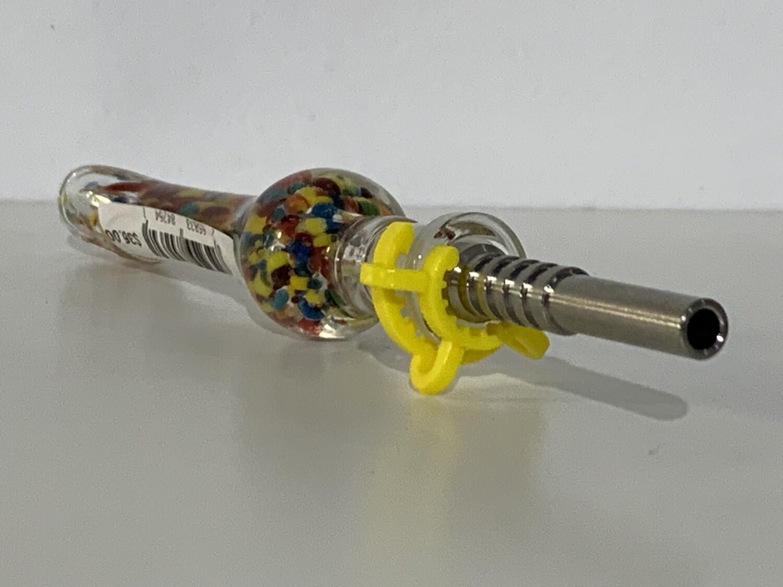 Impressionist Glass Vapor Straw W Tit Tip
