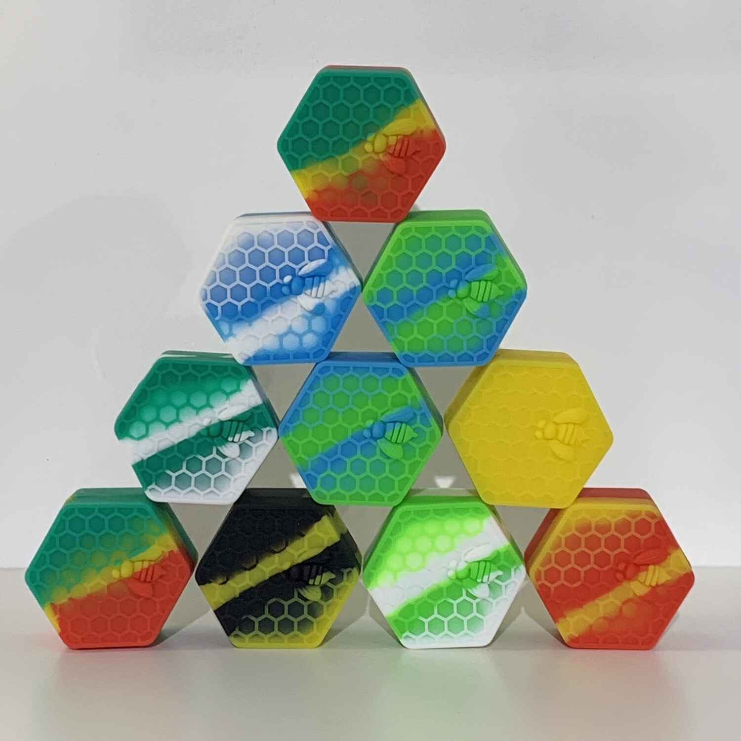 Hexagon Silicone Container