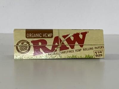 Raw Organic Hemp 1 1/4 Rolling Papers