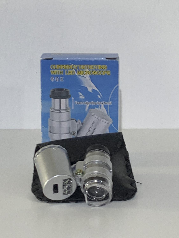 Kingmas mini 60x Microscope Led UV Light
