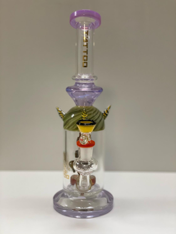 """Tatto USA Glass Water Pipe Alien Showerhead Diffuser 11"""""""