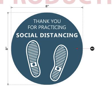 COVID SOCIAL DISTANCING FLOOR GRAPHICS