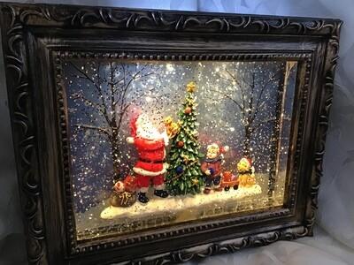 Santa Snowglobe Frame