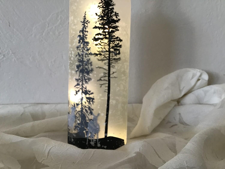 Deer Lighted Bottle