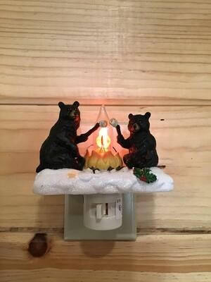 Bear and Campfire Light