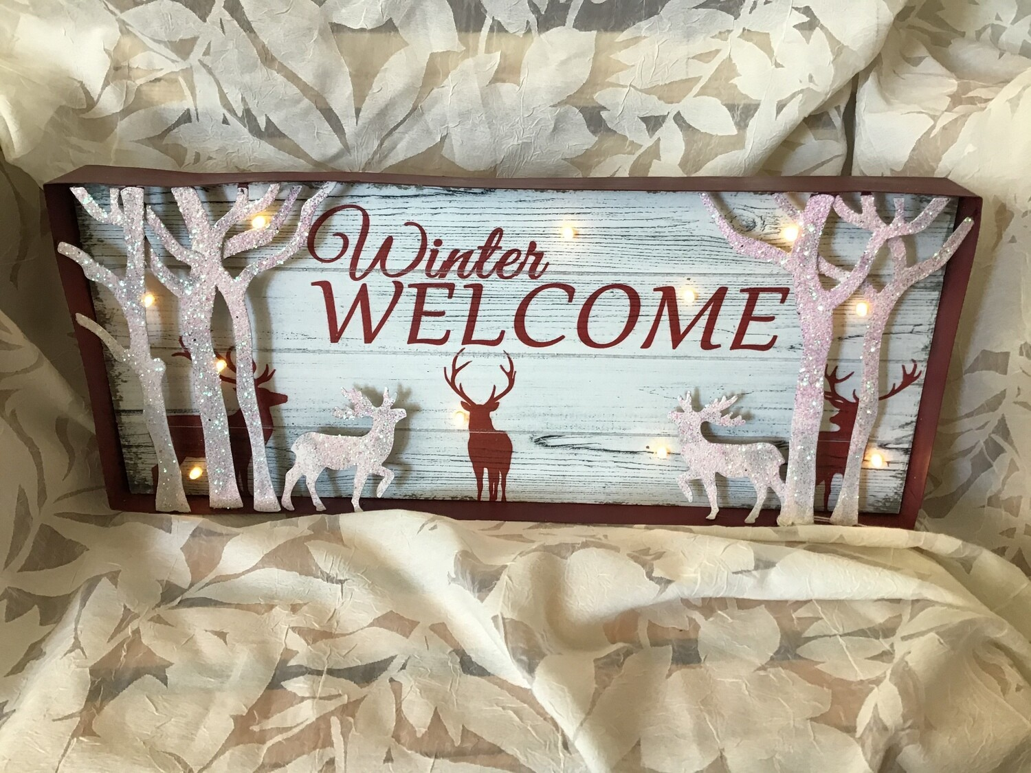 Lighted Winter Welcome