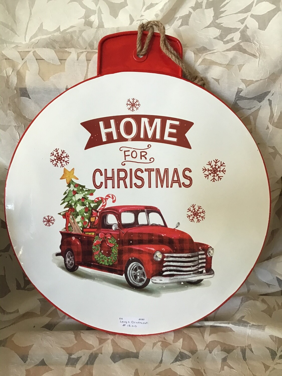 Extra Large Metal Ornament
