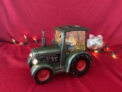 Green Tractor Snow Globe