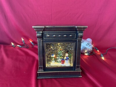 Snowman and Santa Mantle Globes