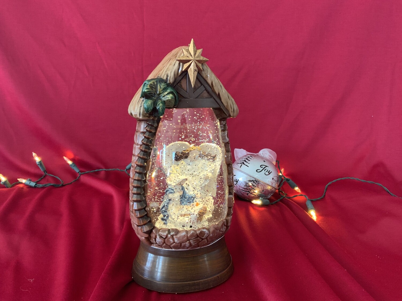 Angel Nativity Globe