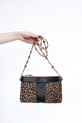 Animal Print Leather Clutch