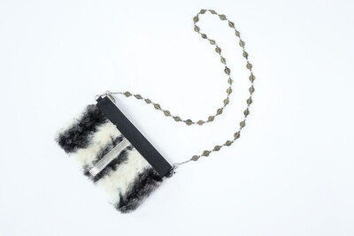 Upcycled Mink Fur Clutch