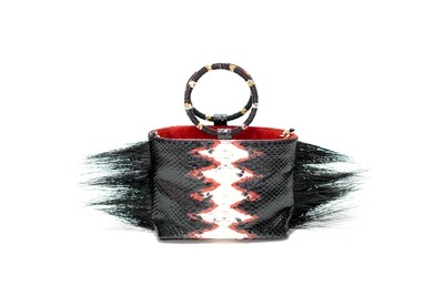 Black And Red Mini Tote