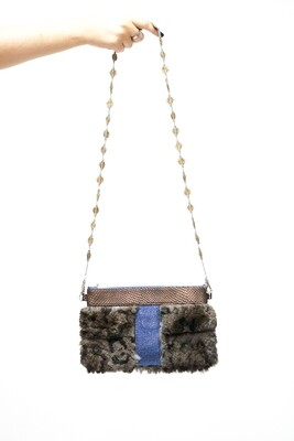 Upcycled Rabbit Fur Clutch