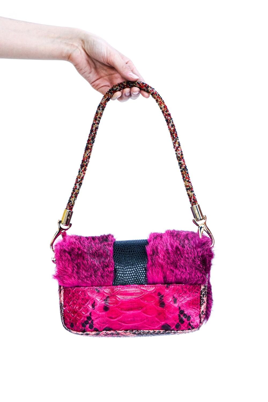 Rabbit Fur Shoulder Bag