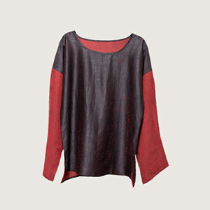 Two color long sleeve shirt