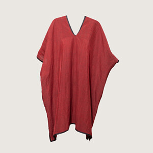 Red V-neck Tunic