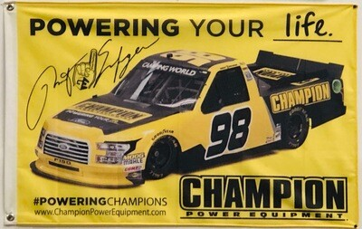 *Free* 2019 Grant Enfinger/Champion Power Equipment Flag (Just Pay Shipping)