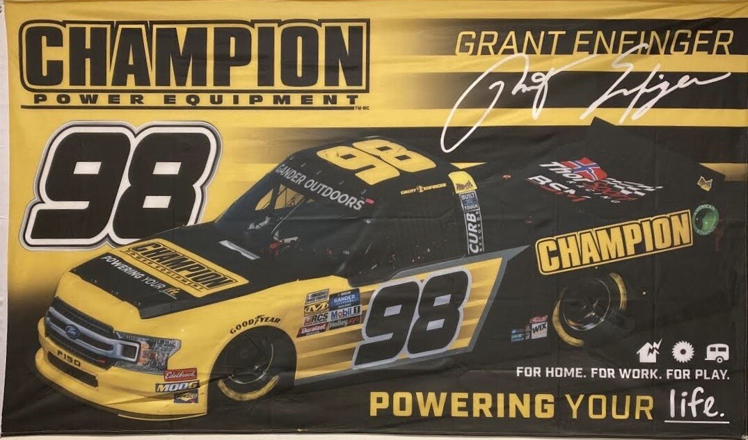 *NEW* 2020 Grant Enfinger/Champion Power Equipment Flag (Just Pay Shipping)