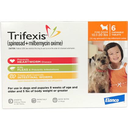 Trifexis 10.1-20 lbs, 6pack  ( $10 online Rebate)