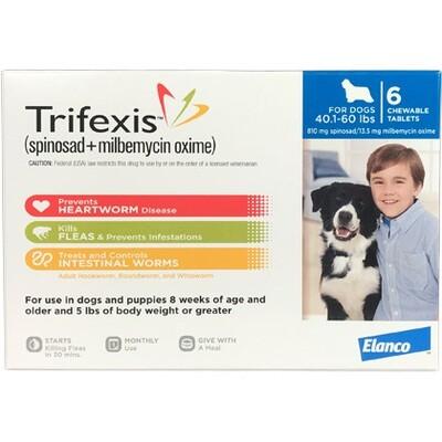 Trifexis 40.1-60lbs, 6 pack ( $10 online Rebate)