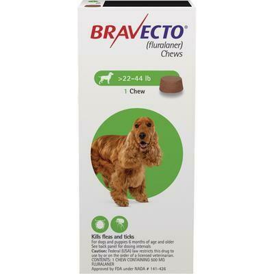 Bravecto 22-44lb ($15 online rebate for 2)