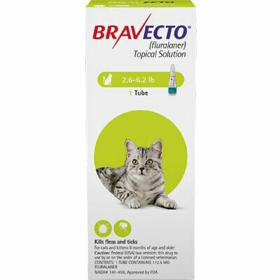 Bravecto 2.6-6.2lbs -CAT ($15 online rebate for 2)