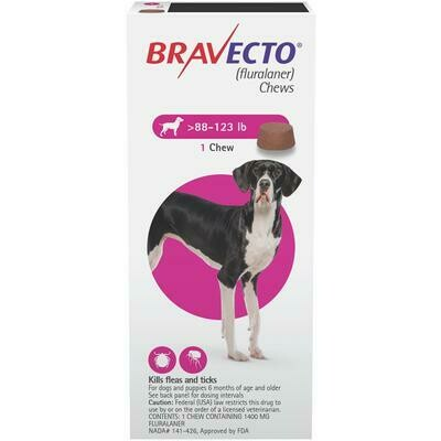 Bravecto 88-123lbs ($15 online rebate for 2) FREE SHIPPING