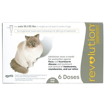 Revolution for Cats 15-22lbs , 6 pack ($15 online rebate)