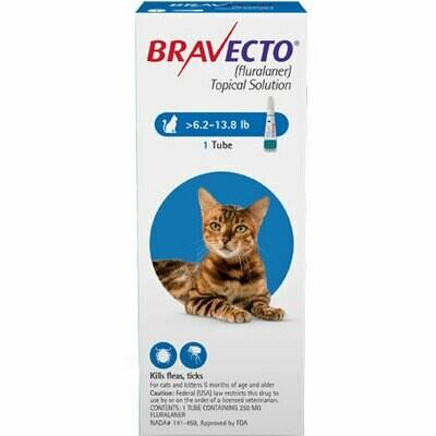 Bravecto Plus 6.2-13.8 lb Cat ($15 online rebate for 2)