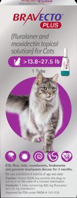 Bravecto plus 13.8-27.5lb Cat (15 online rebate for 2)