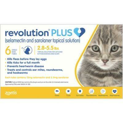 Revolution Plus Cat 2.8-5.5lb 6 Pack ($15 Rebate)