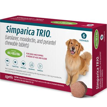 SIMPARICA TRIO™  44.1-88lb 6 pack- $40 in rewards