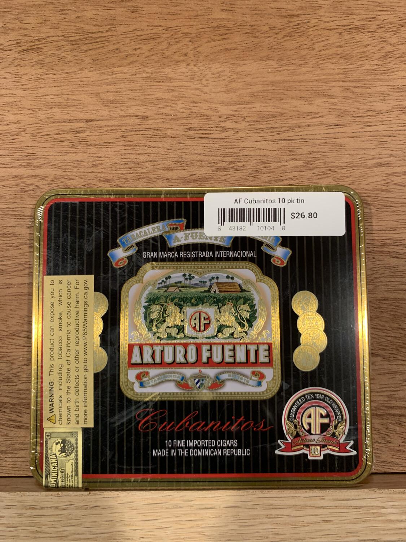 AF Cubanitos 10 pk tin