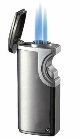 Visol Hybrid USB Triple Torch Cigar Lighter Gunmetal