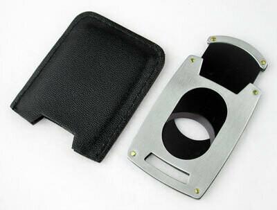Visol Brushed Chrome Guillotine Pocket Cigar Cutter