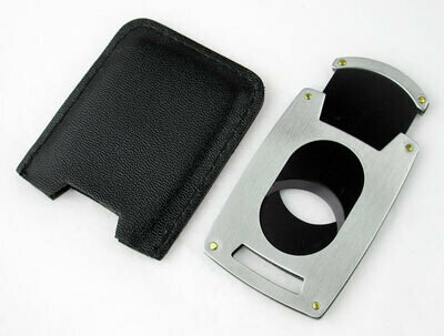 Visol Brushed Chrome Guillotine Pocket Cigar Cutter