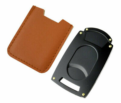 Visol Guillotine Pocket Cigar Cutter - Brown Pouch