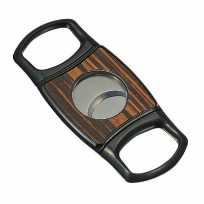 Visol Silvis Wood Plate Dual Blade Cigar Cutter