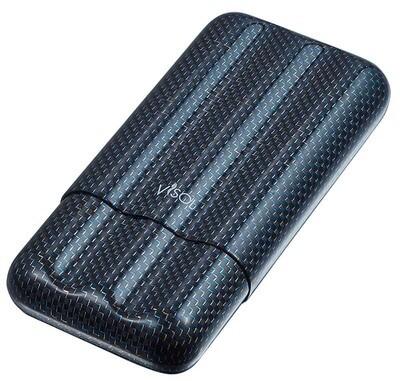 Visol Blue Kevlar & Carbon Fiber Cigar Case - 3 Fingers