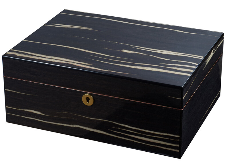 Visol Remo Polished Wood Humidor 50 Ct