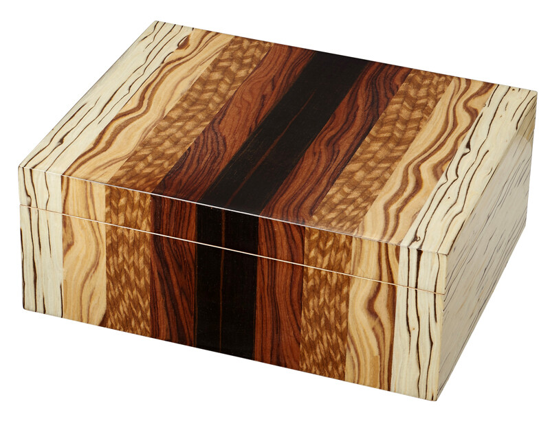 Visol Ridge Mixed Wood Humidor 50 Ct.