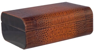Visol Chrco Pattern Leather Humidor 25 Ct