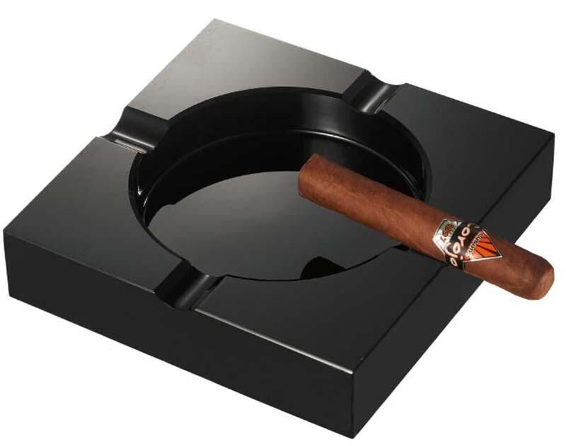 Visol Trey Black Crystal Heavyduty Cigar Ashtray