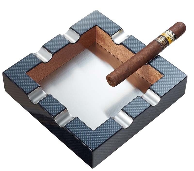 Visol Braeden Carbon Fiber Pattern Cigar Ashtray