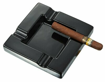 Visol Renner Black Ceramic Cigar Ashtray